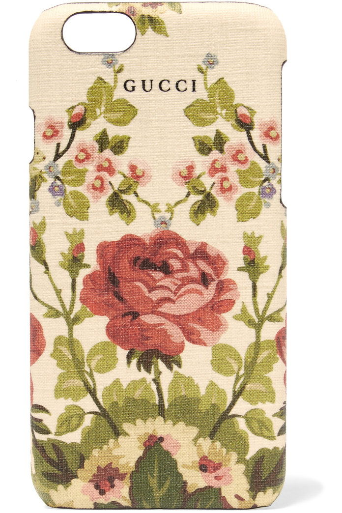กุชชี่ FOR NET-A-PORTER Adonis floral-print textured iPhone 6 case