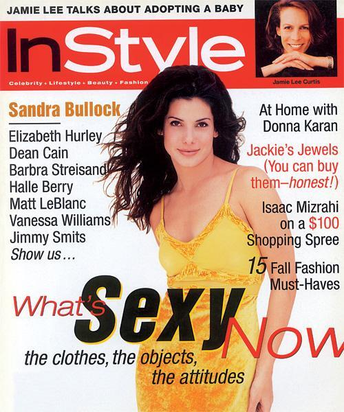 InStyle Covers - September 1996, Sandra Bullock