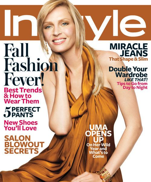InStyle Covers - September 2008, Uma Thurman