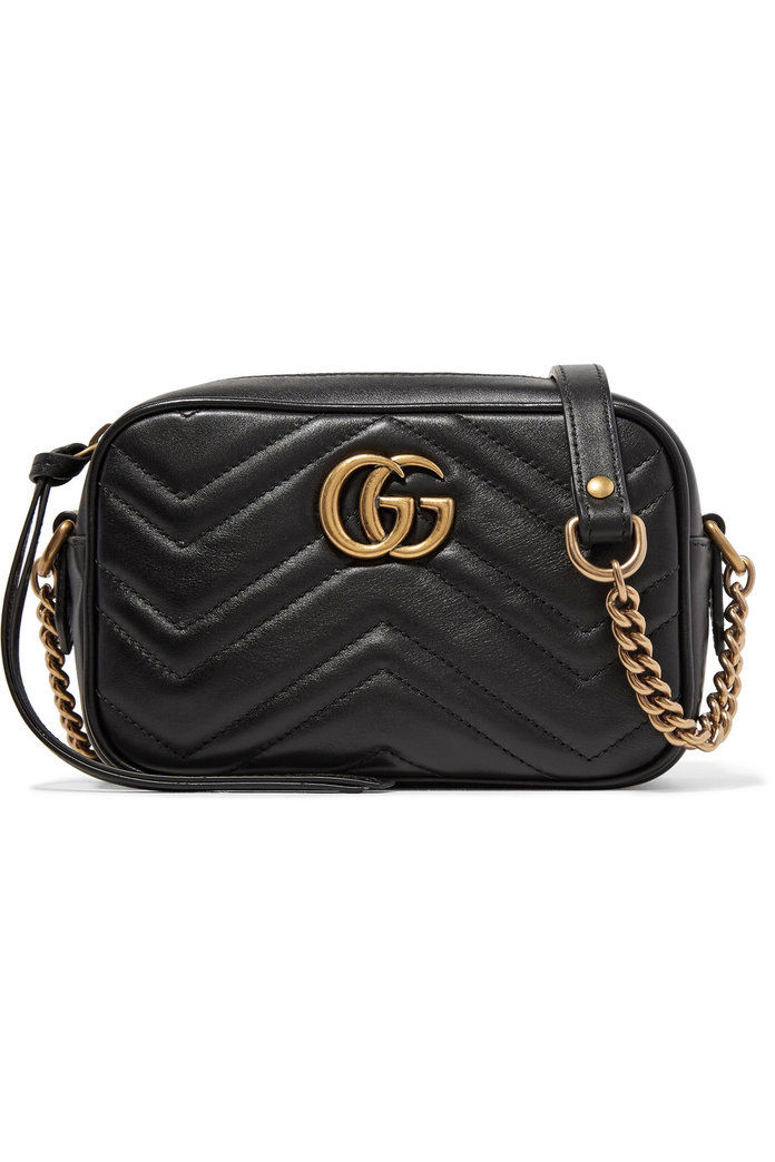 गुच्ची GG Marmont Camera mini quilted leather shoulder bag
