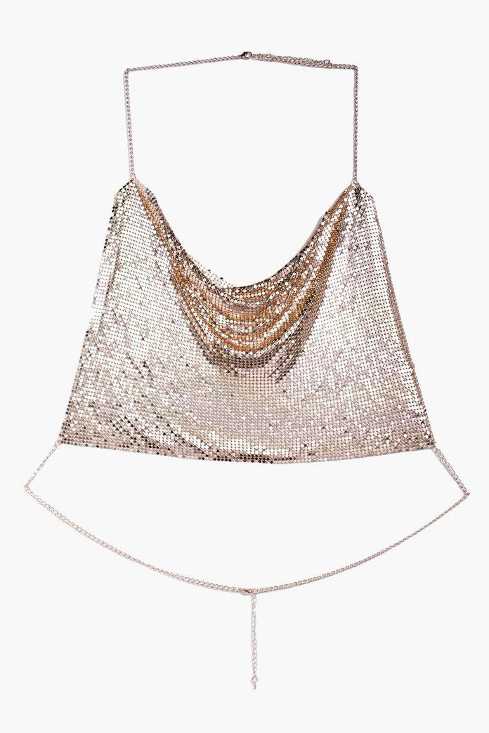 Alyssa Boutique Chainmail Crop Body Chain