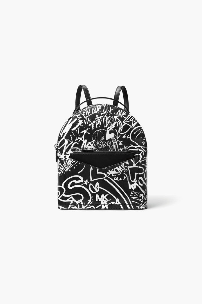 रखती Small Graffiti Leather Convertible Backpack