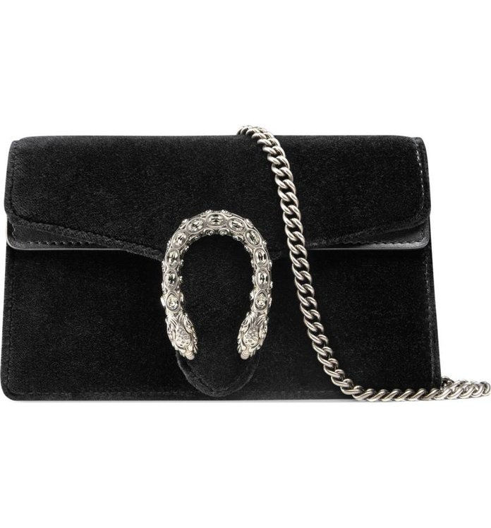 गुच्ची Super Mini Dionysus Velvet Shoulder Bag