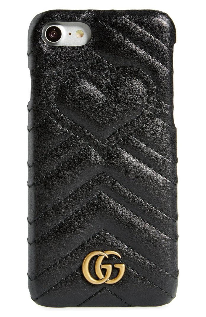 กุชชี่ GG Marmont Leather iPhone 7 Case