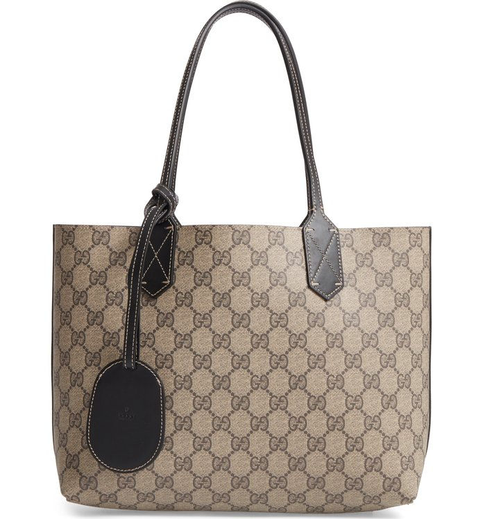 छोटा Turnaround Reversible Leather Tote