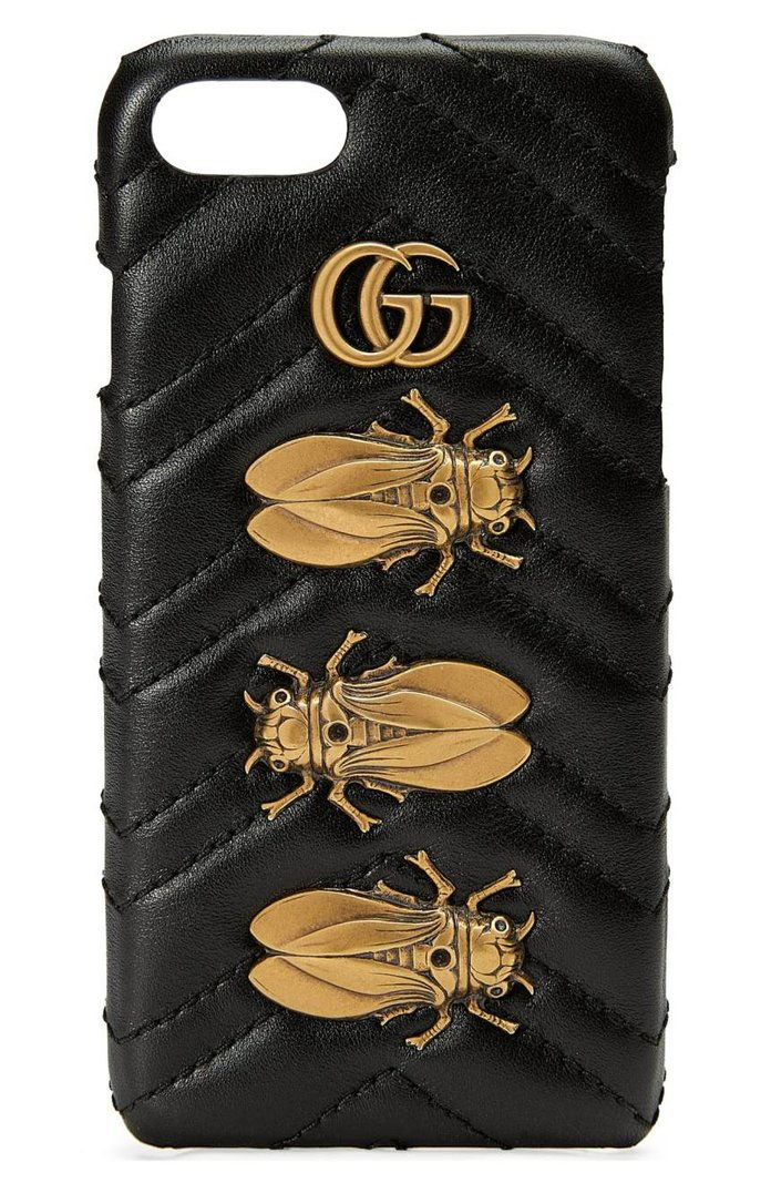 กุชชี่ GG Marmont 2.0 Matelassé Leather iPhone 7 Case