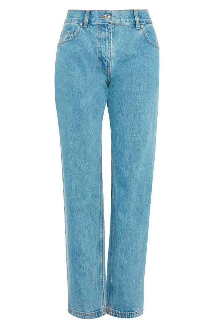ท็อปช็อป Light-Wash Straight-Leg Jeans