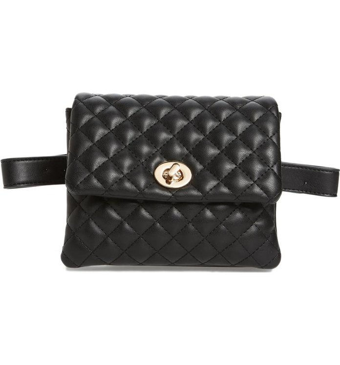 माली + Lili Quilted Faux Leather Convertible Belt Bag