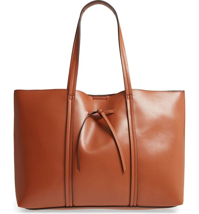 oversize City Faux Leather Tote