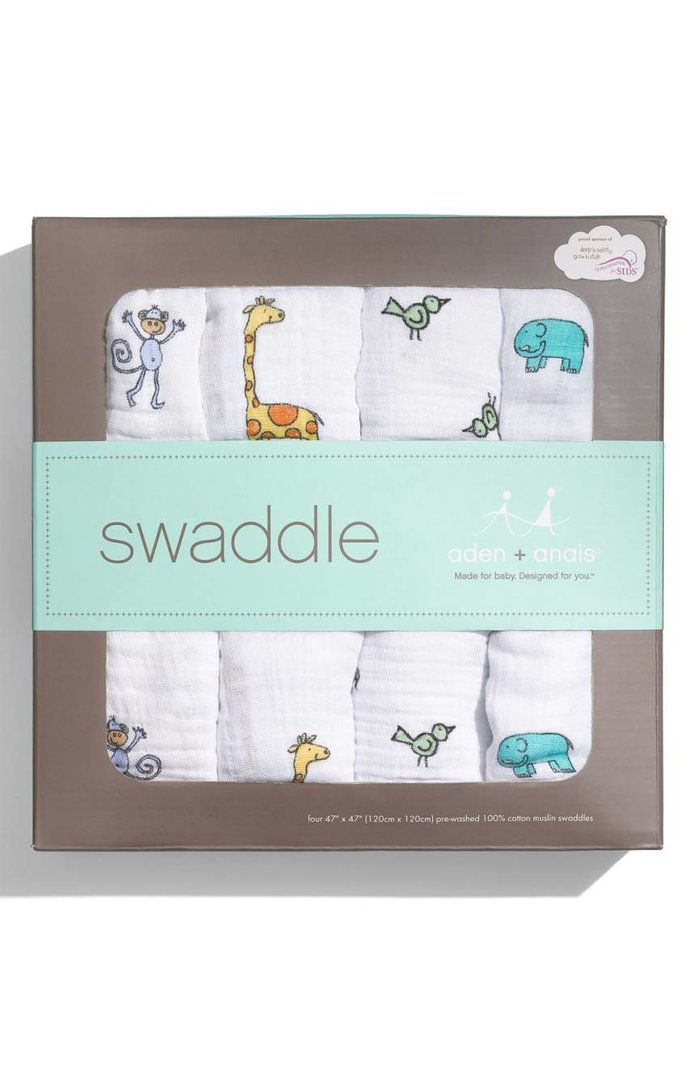 अदन + Anais Set of 4 Classic Swaddling Cloths