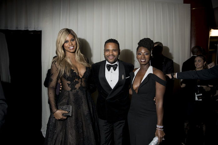 Laverne Cox, Anthony Anderson, and Rutina Wesley