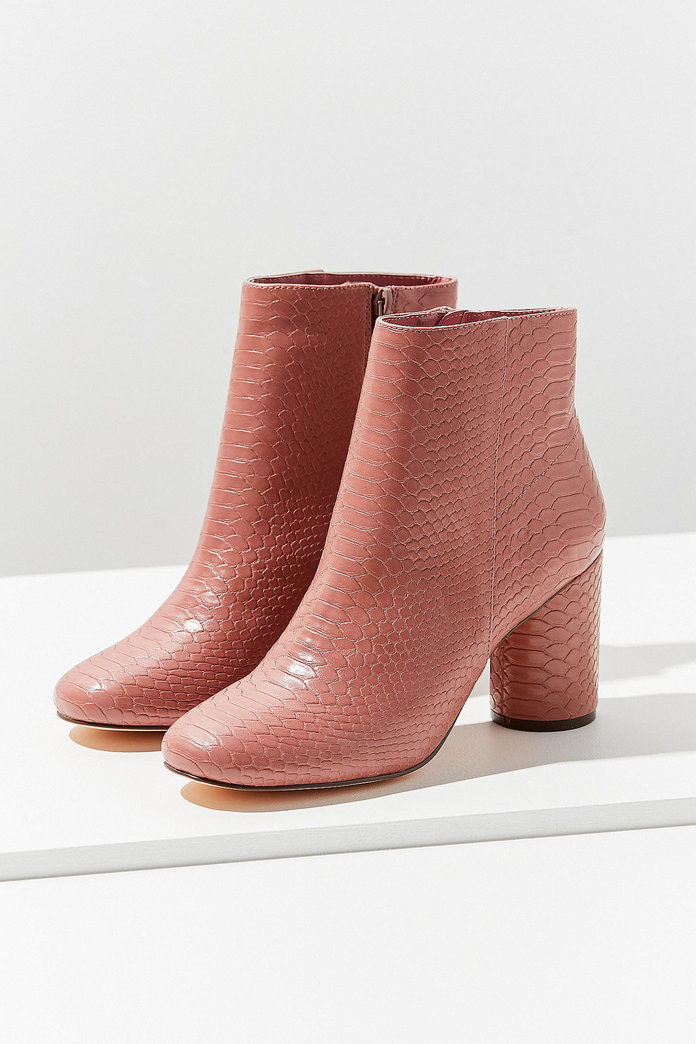 कृत्रिम Snakeskin Ankle Boot