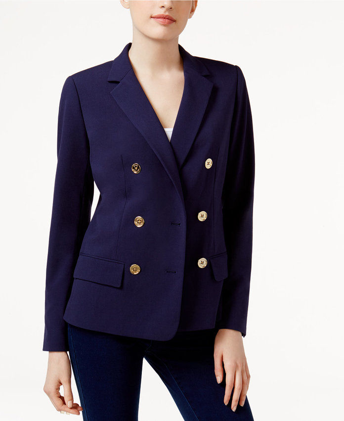 ไมเคิล Michael Kors Double-Breasted Blazer