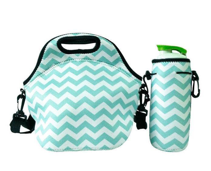 Amerzam Neoprene Lunch Box Bag and Water Bottle Tote