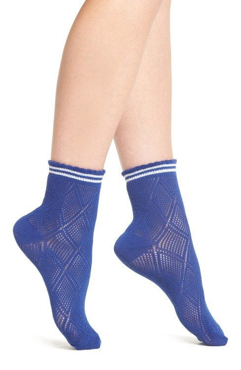 रंग Sheer Tennis Socks