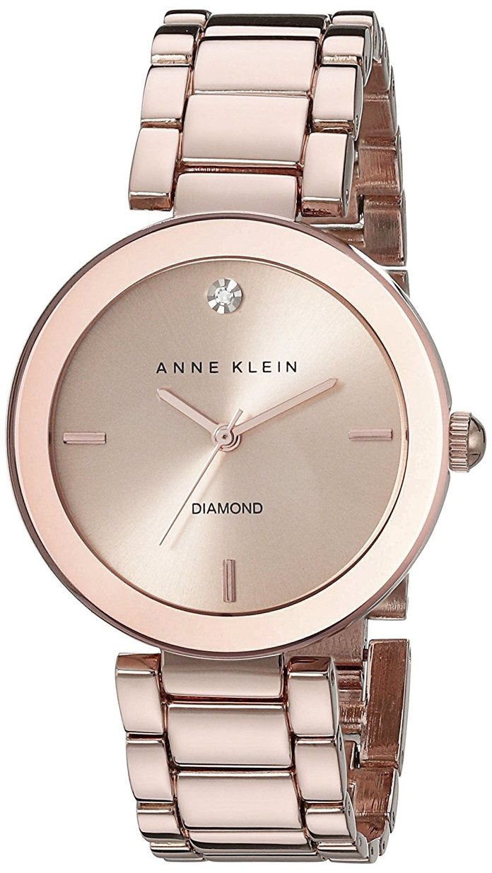 ऐनी Klein Women's Rose Goldtone Bracelet Watch