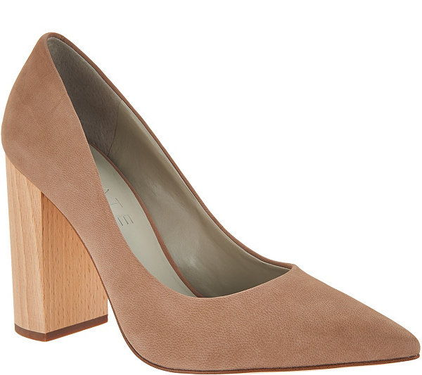 1। State Valencia Pointed Toe Block Heel Pumps