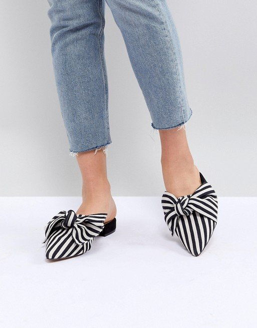 बिजली चमकना Pointed Bow Ballet Flats