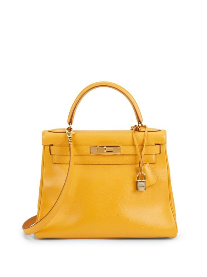 विंटेज Yellow Curchevel Kelly 28cm