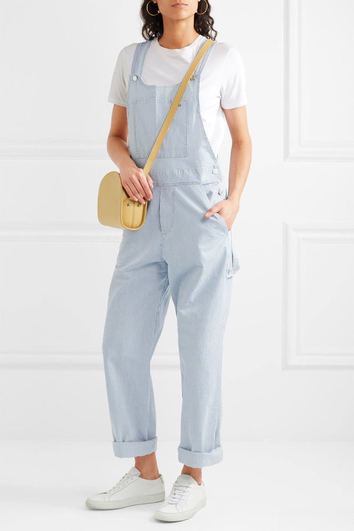 A.P.C. Montana striped cotton-blend overalls