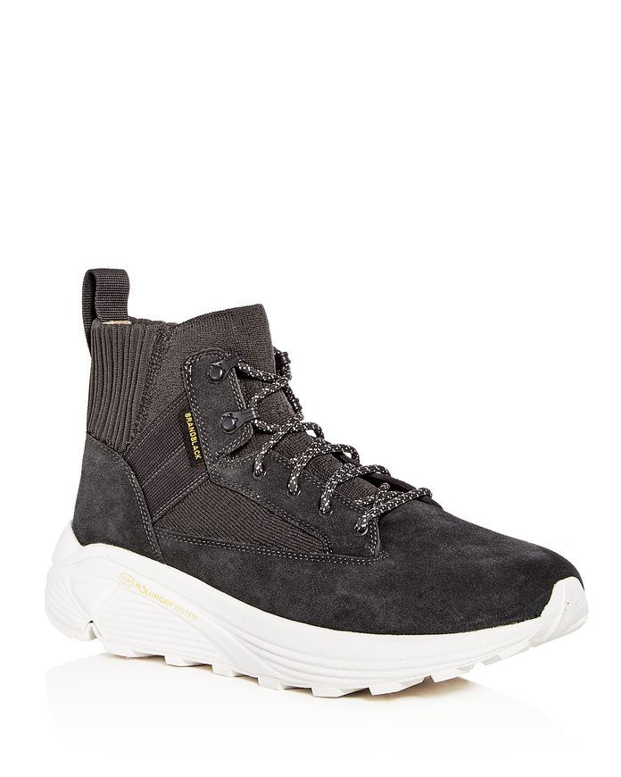 हज़ार Spec Hiker Suede & Knit High Top Sneakers