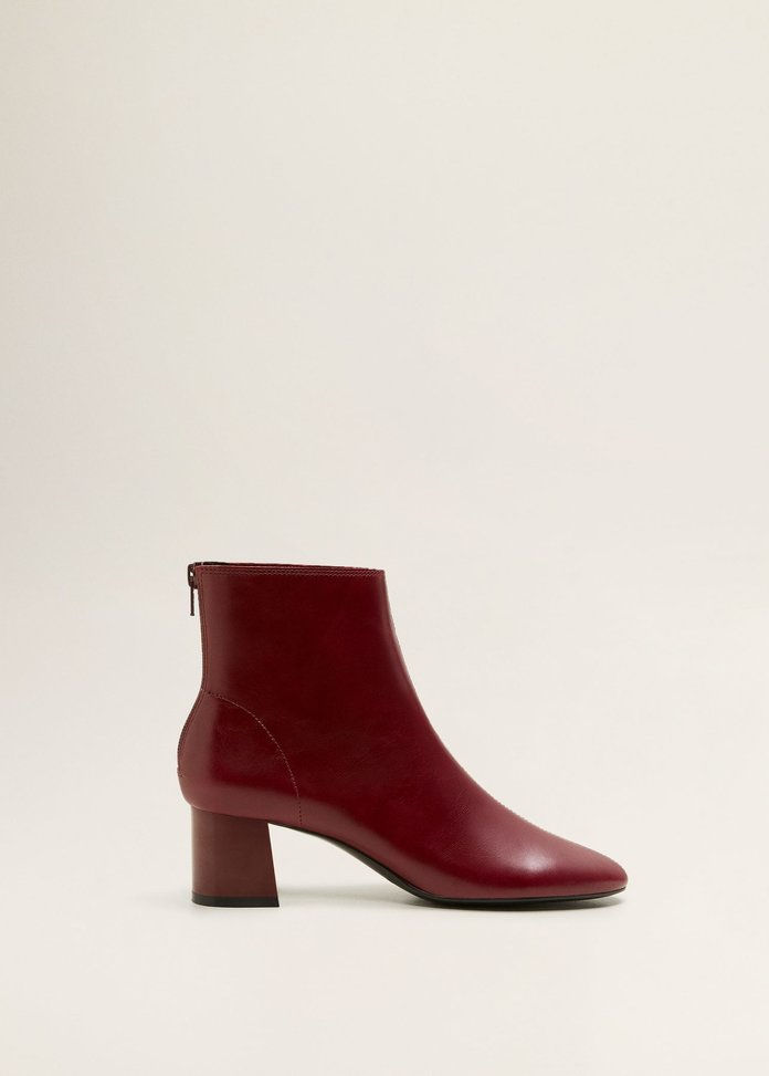 एड़ी Leather Ankle Boot