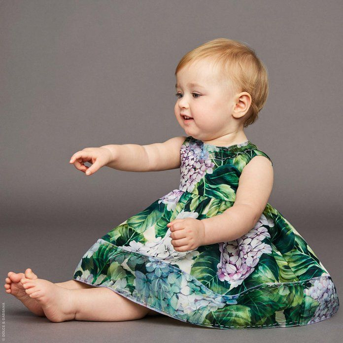 Dolce & Gabbana Mini Me organza dress and bloomers 'Ortensia'