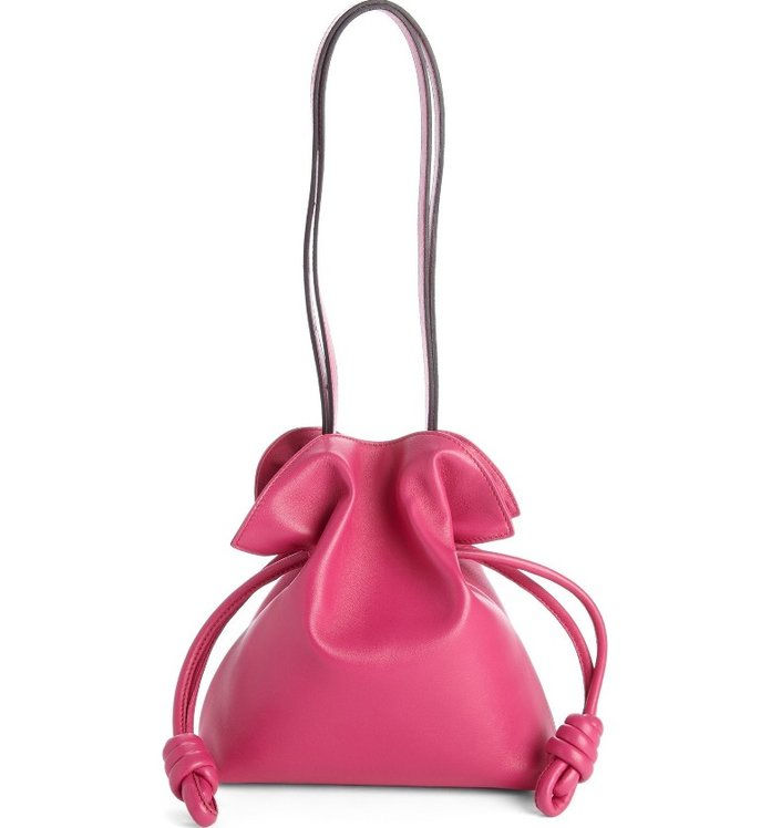 เล็ก Flamenco Knot Nappa Leather Bag