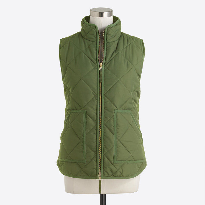 जे क्रू Quilted puffer vest