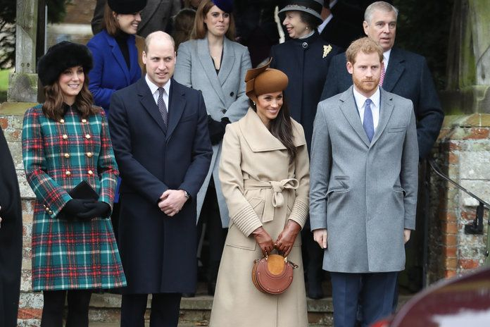 สมาชิก Of The Royal Family Attend St Mary Magdalene Church In Sandringham