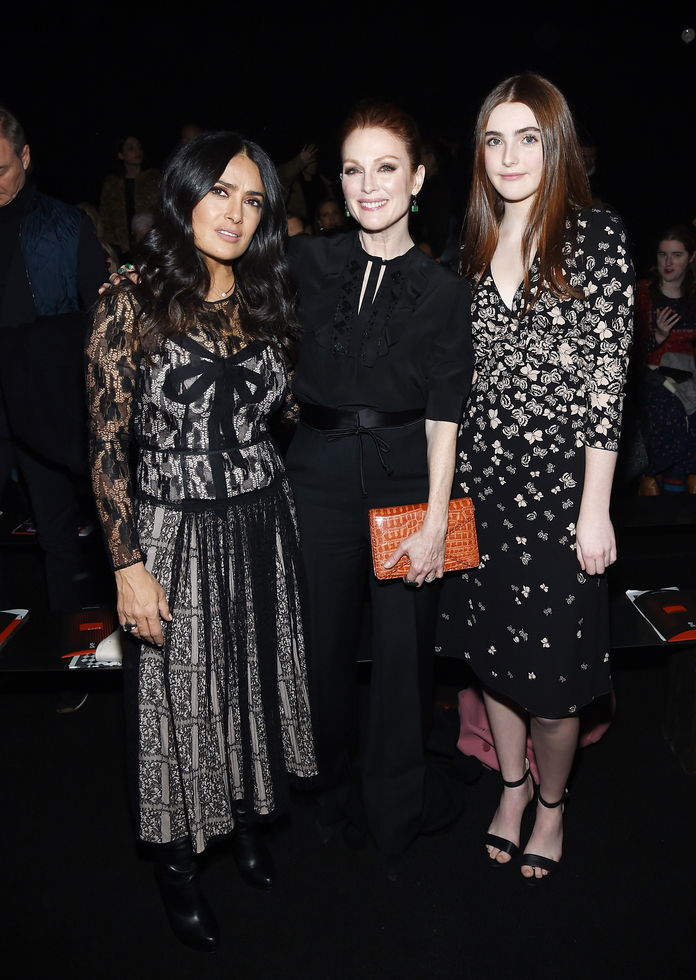 सलमा Hayek Pinault, Julianne Moore and Liv Freundlich