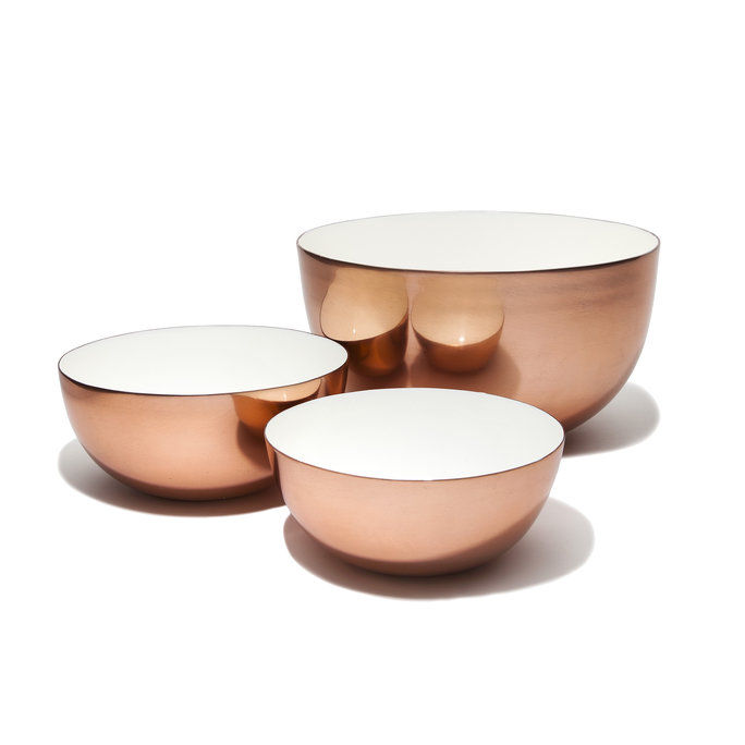 ฮอว์กิน NY Louise Copper Bowls