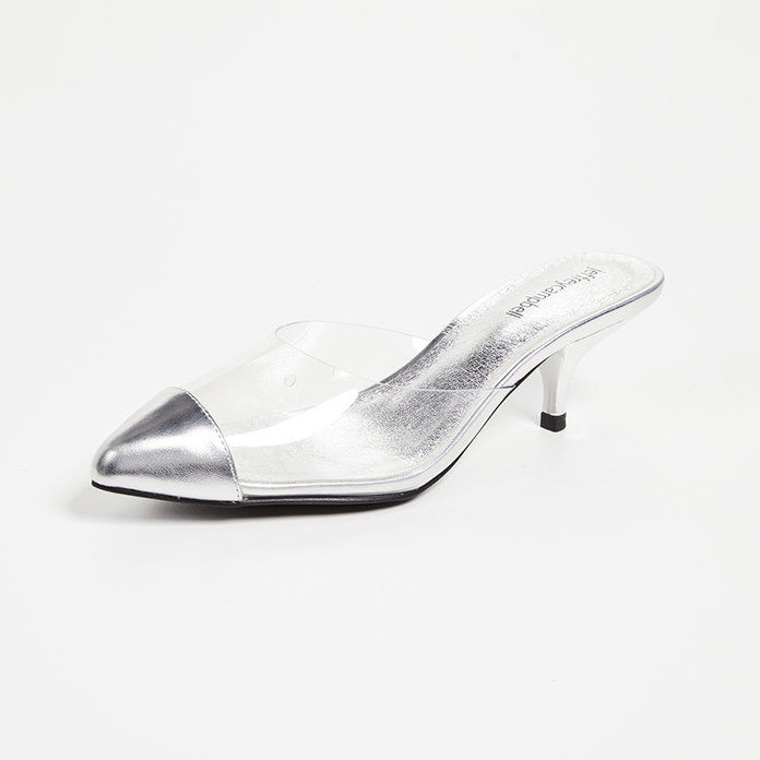 जेना Kitten Heel Point Toe Mules