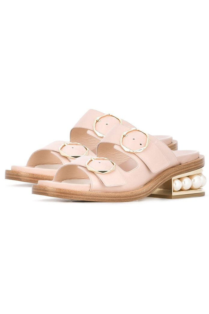 Casati Pearl Two-Strap Sandals