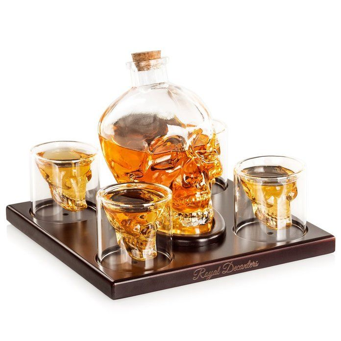 खोपड़ी Shot Glasses and Decanter
